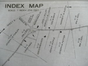 An old map of Warrendale-Bayne Road